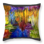 Color Of Sound Throw Pillow