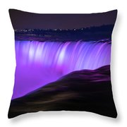 Color On Horseshoe Falls #3 Throw Pillow