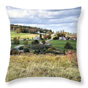 Color On The Hills Throw Pillow