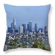 Color Pano Los Angeles California  Throw Pillow