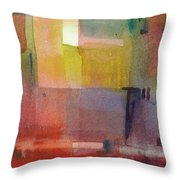 Color Patches Throw Pillow