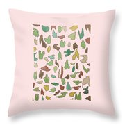 Color Pattern 3 Throw Pillow