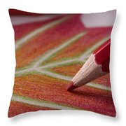 Color Pencil Drawing Throw Pillow