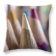 Color Pencils Close-up Throw Pillow