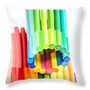 Color Pens 10 Throw Pillow
