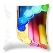 Color Pens 8 Throw Pillow