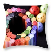 Color Pens2 Throw Pillow