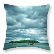 Color Play Before Storm Throw Pillow