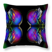 Color Prongs Throw Pillow