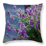 Color Purple Throw Pillow