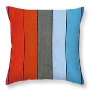 Color Range - Detail Of The Colored Pastels Throw Pillow