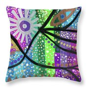 Color Rumble Throw Pillow