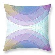 Color Semi Circle Background Horizontal Throw Pillow