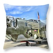 Color Side Wwii B-24j Throw Pillow