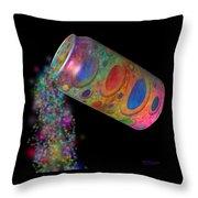 Color Spill Throw Pillow