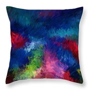 Color Splash Abstract 080210 Throw Pillow