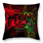 Color Splat Throw Pillow
