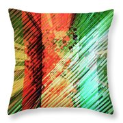 Color Stripes Throw Pillow