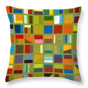 Color Study Collage 64 Throw Pillow by Michelle Calkins