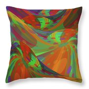 Color Swells Throw Pillow