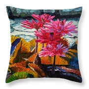 Color Texture And Light Throw Pillow