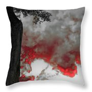 Color The Clouds Throw Pillow