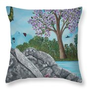 Color The World Throw Pillow