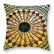 Color Tiles Throw Pillow