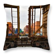 Color Transport  Throw Pillow
