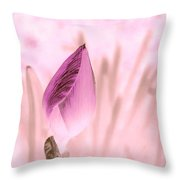 Color Trend Flower Bud Throw Pillow