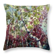 Color Twirl Throw Pillow