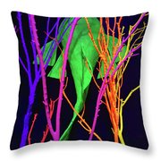 Color Under The Sea Throw Pillow