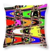 Color Wave Abstract Throw Pillow
