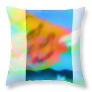 Color Wave Throw Pillow