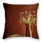 Color Wild Garden Throw Pillow