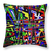 Color Works Abstract Throw Pillow