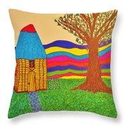 Colorful Fantasy Land Throw Pillow