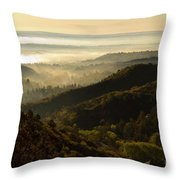 Colorado And Manitou Springs Valley In Fog Throw Pillow