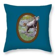 Colorado Bighorn Throw Pillow