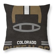 Colorado Buffalos Vintage Football Art Throw Pillow