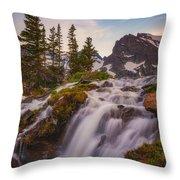 Colorado Cascading Waters Throw Pillow