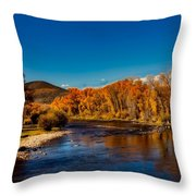 Colorado Cottonwoods In Autumn Throw Pillow