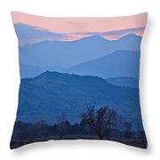 Colorado Country - Boulder County Throw Pillow