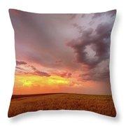 Colorado Eastern Plains Sunset Sky Throw Pillow