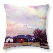 Colorado Farm Throw Pillow