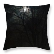 Colorado Full Moon Throw Pillow