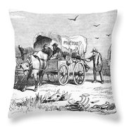 Colorado Gold Rush, 1859 Throw Pillow