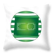 Colorado Green Throw Pillow