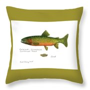 Colorado Greenback Cutthroat Trout Throw Pillow