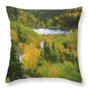 Colorado Lake And Colors Throw Pillow